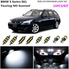 14Bulb LED HID Xenon White 6000K Interior Light Kit Fit BMW 5 Series E61 Touring