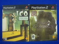 ps2 ICO + SHADOW OF THE COLOSSUS + Art Cards 2 Amazing Games PAL UK Versions