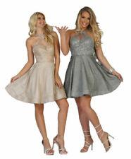Elegante BODYCON MINI DRESS Macchie Strisce Modello e dimensioni delle maglie 8-14 fc1615