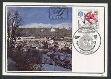 AUSTRIA MK 1982 SCHLADMING SKI WM MAXIMUMKARTE CARTE MAXIMUM CARD MC CM d5200