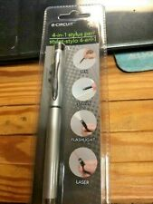 SILVER  STYLUS  4 in 1 PEN FOR TOUCH SCREEN PHONES USE WITH IPAD & IPHONE