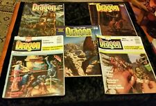 5 x Dragon Role Playing Magazines 1980's # 216, 217, 218, 219,220