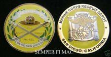 2nd RTBN MCRD BOOT CAMP FOX ECHO GOLF HOTEL CHALLENGE COIN US MARINES MR YELLOW