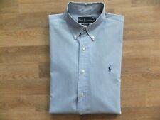 Polo by Ralph Lauren Herren Langarm Hemd Custom Fit blau kariert Gr. 16,5