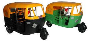Auto Rickshaw TUK TUK India Cricket transport Cars Toy GREEN, BLACK TAXI Cricket