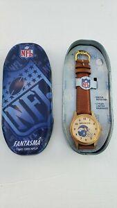 NFL 1997 MENS QUARTZ Denver  Broncos WRIST WATCH GOLD TONE NEW