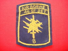 """Hand Made Patch - US 1st SFGrp - 46th Special Forces Company Det """"B"""" In Thailand"""