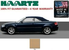 Audi A4 Convertible Soft Top With Heated Glass window in TAN German A5 Canvas