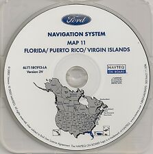2003 2004 2005 2006 Ford Expedition Navigation Map #11 Cover Florida Puerto Rico