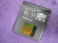 OEM NOKIA BL-5F BATTERY for 6290 6710 E65 6210 N78 N96 N95 N93i 3.7V 950mAh