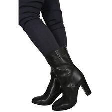 DIESEL JEANS BLUSEY Damen Leder Stiefel Stiefelette Gr. 40 Neu Echtleder schwarz