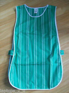 NEW - Green & White Striped Tabard Apron Catering, Cafe, Home - Size S M