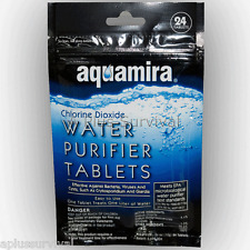 Aquamira Chlorine Dioxide Military Drinking Water Purification Tablets 24 Pack