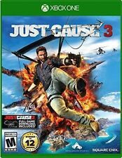 Just Cause 3 RE-SEALED Microsoft Xbox One 1 XB XB1 XB3 JC JC3 J C GAME