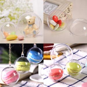 20 tlg Weihnachtskugeln Kunststoffkugel Transparent Christmas Balls Acrylkugeln