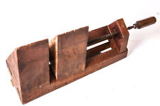 Rare Antique Mitre Jack Primitive Wood Vice Vintage Vise Tools