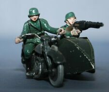 P746 QUIRALU  SOLDAT ALLEMAND EN MOTO SIDE CAR 1939 PILOTE PASSAGER MITRAILLEUSE