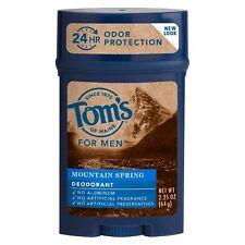 New Tom's of Maine Mountain Spring Natural Deodorant Stick for Men 2.25 Oz.