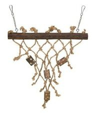 TRIXIE BIRD ROPE AND WOOD TOY TOYS  BUDGIE NET WALL 2 For 1
