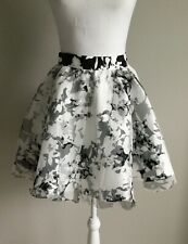 WINDSOR Tulle Skirt Tutu Ruffle Mini Ribbon Skirt ~Party ~White & Black~ Small