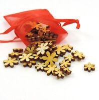 Blumen aus Holz Streuteile Mix für Geburtstag Kinder 10-15mm Deko basteln