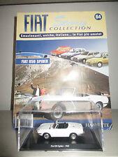 FIAT 850 SPIDER CON FASCICOLO FIAT STORY COLLECTION HACHETTE SCALA 1:43