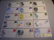 Mixed Lot of 15 Assorted Cacheted Unaddressed United Nations First Day Covers