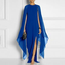 Long Sleeve Evening Prom Party Cape Bridesmaid Dresses High Slit Cocktail Dress