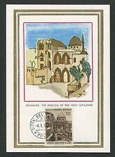 Vatikanstadt MK 1964 Basilica Jérusalem maximum Carte CARTE MAXIMUM CARD MC cm d2505