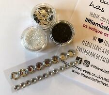 Black & Silver Glitter Kit, Festival Glitter