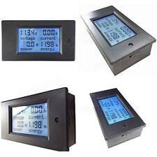 DC 6.5-100V 20A Digital Voltage Current Watt Power Energy Meter LCD Ammeter AMP