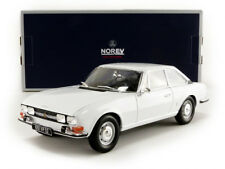 Norev 1969 PEUGEOT 504 COUPE WHITE in 1/18 Scale. New Release! In Stock!