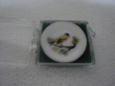 DOLLHOUSE PORCELAIN PLATE-YELLOW BIRD