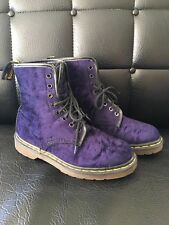DOC DR MARTENS PURPLE / VELVET BOOTS MADE IN ENGLAND UK Size 6, US Womens 8