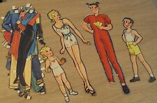 "Vtg Lot of Comic Paper Dolls/Clothing~""Blon die/Dagwood and Kids""~"