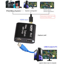 HDMI To USB Video Capture Card TV Loop Game Record Youtube Live Streaming Device