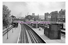 bb1124 - Bromley by Bow Railway Station , London in 1961 - photograph