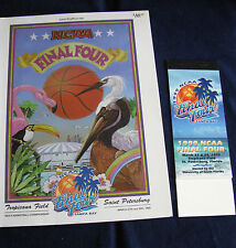 1999 NCAA FINAL FOUR SET OF TICKET STUBS BOOKLET AND OFFICIAL PROGRAM