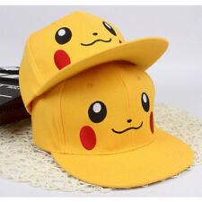 Pikachu Pokemon Adjustable Caps Girl Baseball Hat Cool Boy Hip-hop Kid Adult F