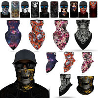 Skull Motocycle Bicycle Tube Bandana Neck Gaiter Face Scarf Mouth Cover Headwear