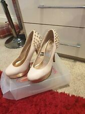Light Pink With Gold Spikes High Heel UK Size 7