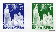 Australia Replica Card #10 1958 Christmas Stamps Die Proof