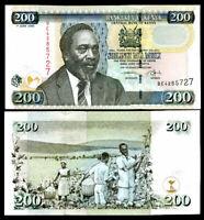 KENYA 200 SHILLINGS 2005 P 43 UNC