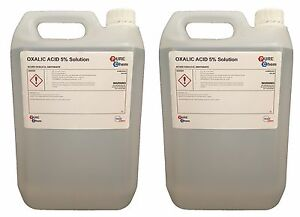 Oxalic Acid 5% Solution 2 x 5L Bleaching / Stain Removal / Rust Remover