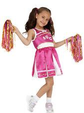 Cheerleader Kostüm Kinder pink schwarz Mädchen Karneval Fasching KK