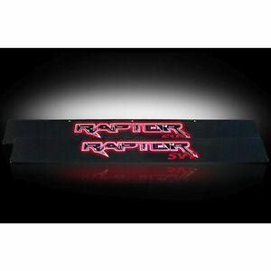 RECON 264421FDBKRD 2009-2014 Ford Raptor Black-Red Emblems Illuminated door sill