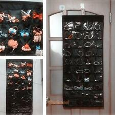 80 Pockets Double-Sided Wall Door Hanging Jewelry Organizer Storage Bag Hoder