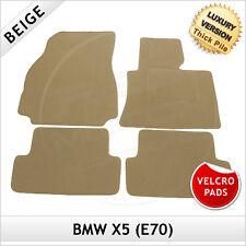 BMW X5 E70 2006-2013 Velcro Pads Tailored LUXURY 1300g Carpet Floor Mats BEIGE