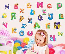 26 Alphabet Animal Removable Educational Wall Stickers Kids Nursery Vinyl Decar6