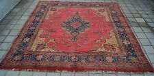 TURKISH USHAK CARPET RUG SQUARE WOOL 12X12ft HAND KNOTTED OLD AREA RUGS Pre-1900
